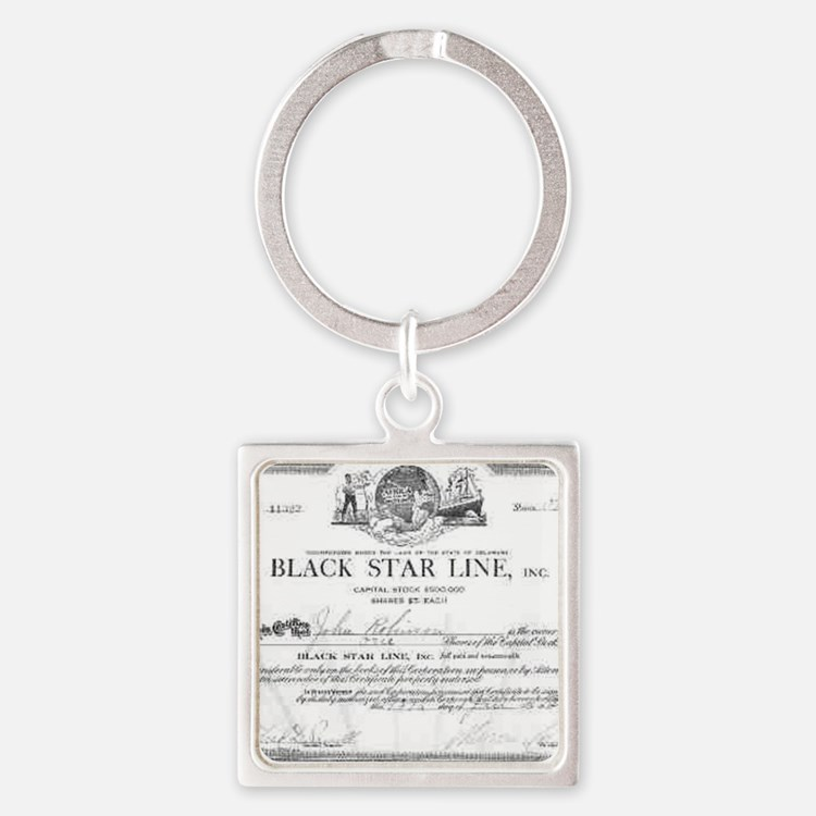 black star line certificate Square Keychain