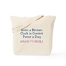 Broken Clock Tote Bag