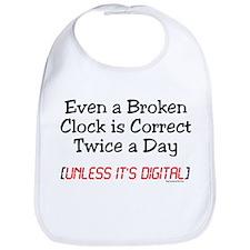 Broken Clock Bib