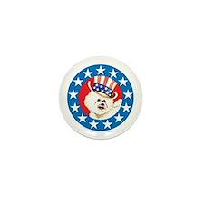 Patriotic Bichon Mini Button