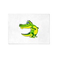 Flirting Crocodile 5'x7'Area Rug