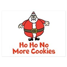 Fat Santa Claus Loves Cookies Invitations