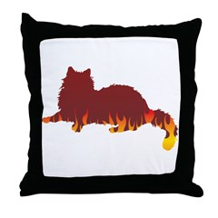 Ragdoll Flames Throw Pillow