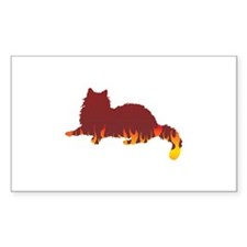 Ragdoll Flames Rectangle Decal