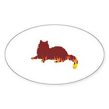 Ragdoll Flames Oval Decal