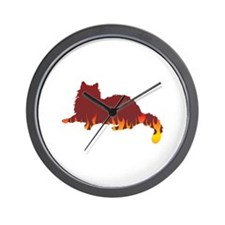 Ragdoll Flames Wall Clock
