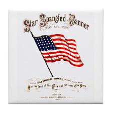 Star Spangled Banner Tile Coaster