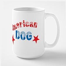 Patriotic Basset Large Mug