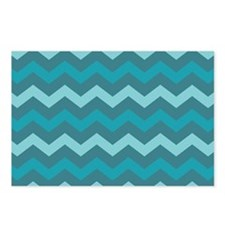 Teal Shades Chevron Pattern Postcards (Package of
