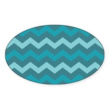 Teal Shades Chevron Pattern Decal