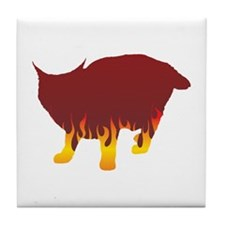 Pixie-Bob Flames Tile Coaster
