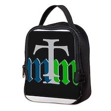 three merry men blue green on b Neoprene Lunch Bag