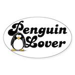 Penguin Lover Oval Sticker
