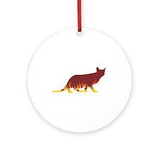 Ocicat Flames Ornament (Round)
