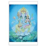 Ganesha with Consort Poster Large