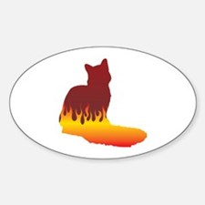 Nebelung Flames Oval Decal