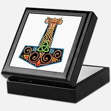 Hand Painted Thor's Hammer Keepsake Box