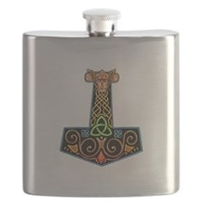 Hand Painted Thor's Hammer Flask