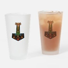 Hand Painted Thor's Hammer Drinking Glass