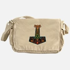 Hand Painted Thor's Hammer Messenger Bag
