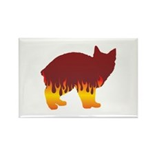 Manx Flames Rectangle Magnet