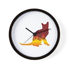 Korat Flames Wall Clock