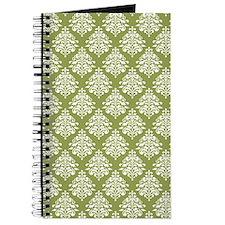 Damask Olive Green Journal