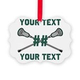 Lacrosse Picture Frame Ornaments