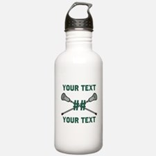 Personalized Green Water Bottle