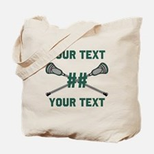 Personalized Green Tote Bag