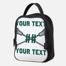 Personalized Green Neoprene Lunch Bag