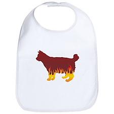 Bobtail Flames Bib