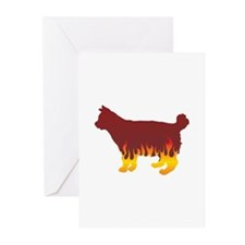 Bobtail Flames Greeting Cards (Pk of 10)