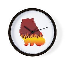 Himalayan Flames Wall Clock