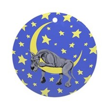 Great Dane Blue Twinkle Ornament (Round)