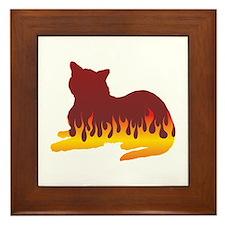 Burmese Flames Framed Tile
