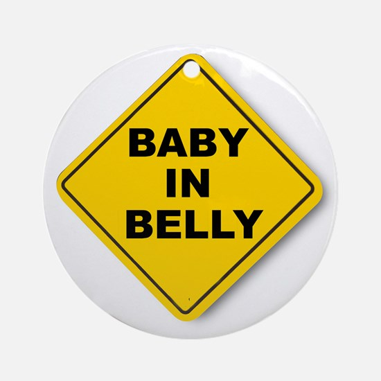 Baby in Belly Ornament (Round)