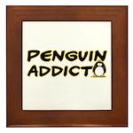 Penguin Addict Framed Tile