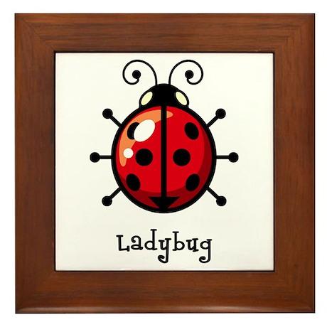 Red Ladybug Framed Tile