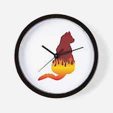 Mau Flames Wall Clock
