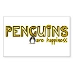 Penguins are Happiness Rectangle Sticker