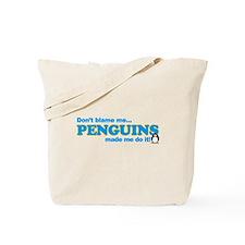 Blame Penguins Tote Bag