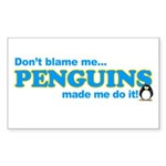 Blame Penguins Rectangle Sticker
