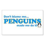 Blame Penguins Rectangle Sticker
