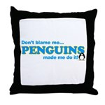 Blame Penguins Throw Pillow