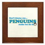 Blame Penguins Framed Tile
