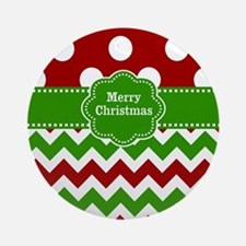 Red Green Christmas Ornament (Round)