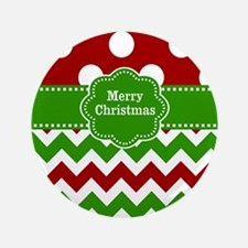 """Red Green Christmas 3.5"""" Button"""