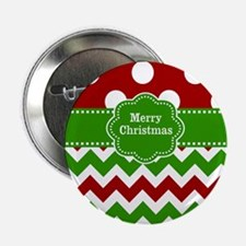 """Red Green Christmas 2.25"""" Button"""