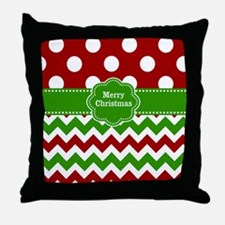 Red Green Christmas Throw Pillow